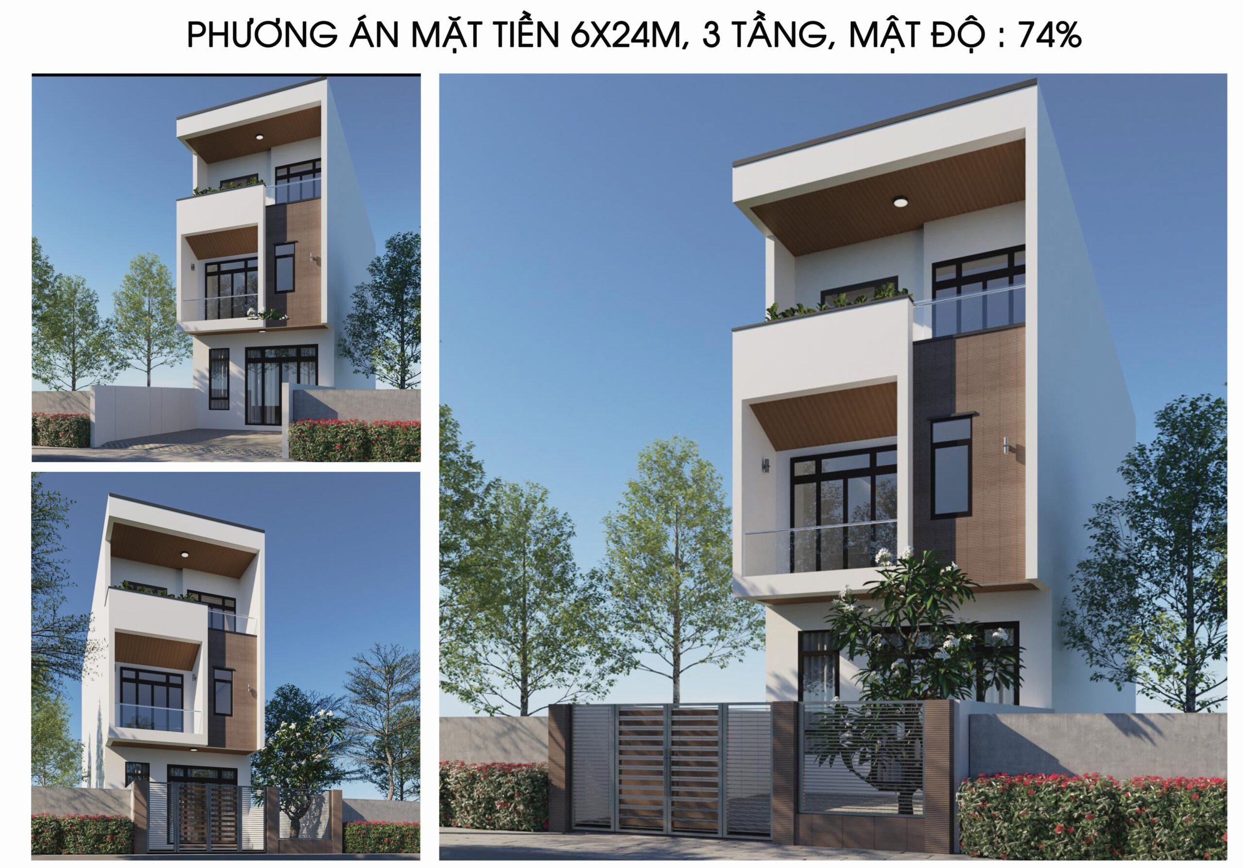 Seri mẫu nhà: nhà phố 3tầng 6mx24m